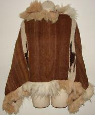 Vintage Handmade Peruvian Style Alpaca Poncho Wrap Shawl