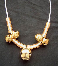 Funky Huge JINGLE BELLS PENDANT NECKLACE Holiday Music Gift Costume Jewelry-GOLD