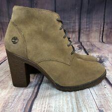 Timberland Tillston High Heel Chukka Boots Women Size 8 Rust Suede Boots NEW