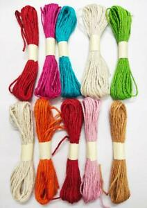 Flowers Jute Thread Twisted Rope for DIY Art and Craft Projects and Decoration