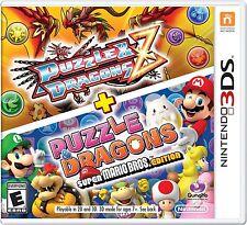 NEW Puzzle & Dragons Z + Puzzle & Dragons: Super Mario Bros Edition Nintendo 3DS