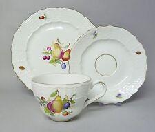 (G435) Höchst Kaffeegedeck 3 teilig, Früchte-  / Obst-Dekor, Goldrand #4/6