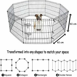 Pet Playpen Suitable For Dogs Rabbits Guinea Pigs & Cats 8 Panel With Door