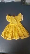 Vintage 50's Cotton Yellow Doll Dress 14""