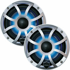 """Wet Sounds 6.5"""" REVO 6-XSS Marine Speakers Silver Open XS Grille LED Speakers"""