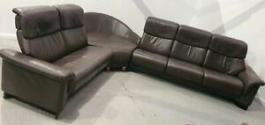 Ekornes Stressless Brown Corner 6 seater recliner Leather Sofa 2901218