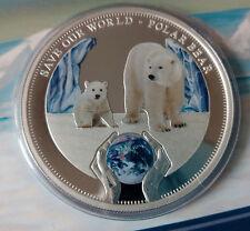 Cook island 1 dollar 2013 Save our World  Polar Bear  Silver 1 oz  Blister