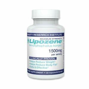 Lipozene Diet Pills - Maximum Strength Fat Loss Formula - 1500mg - 120 Capsules