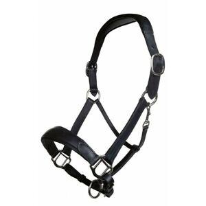 USG Leather Headcollar Noblesse Black-VB-Holster Leather Luxury Horses Horse