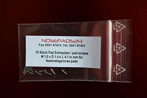 10 Schrauben für Nasenstege - screws for Nose Pads 1,0 X 1,4 X Länge 4,1 mm