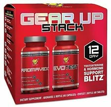 BSN EVOTEST AROMAVEX Gear Up Stack Test Booster PCT Anti Estrogen 12 Day Course