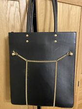 & other stories Black Leather Tote Bag