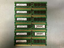 256MB PC2-3200R DDR2-400 1Rx8 LOT OF 6 Samsung Registered Memory(RAM) DIMM