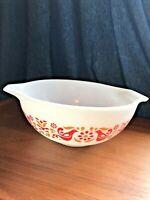 VINTAGE PYREX 443 Friendship Birds Pattern Cinderella 2.5 Quart Mixing Bowl USA!