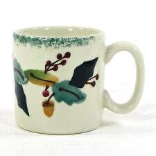 Hartstone Pottery CHRISTMAS GARLAND 5oz Mini Mug Holly Berry Acorn Ribbon