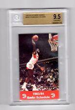 DOMINIQUE WILKINS 1983-84 HAWKS SCHEDULE BGS 9.5 Rookie