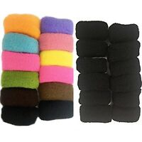 12 Hair Thick Elastic Bands Bobbles Rubber Strong Ponytail Holder Endless Tie