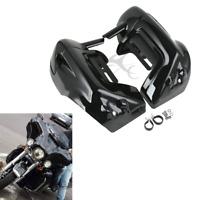 Gloss ABS Lower Vented Leg Fairings Glove Box For Harley Touring FLHR FLTR FLHTC