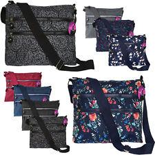 Cross Body Shoulder Bag Small Med Handbag Messenger Ladies Printed Multi Pocket