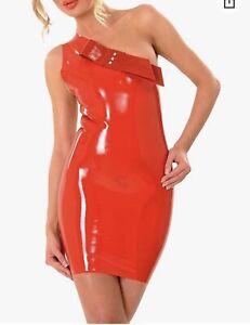 latex minikleid rot - S Wie Neue!