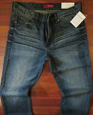 Guess Straight Leg Jeans Men Size 40 X 30 Classic Distressed Wash Mid Rise NEW
