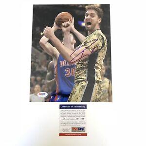 Pau Gasol signed 8x10 photo PSA/DNA San Antonio Spurs Autographed