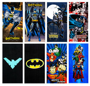 "Batman DC Comics Beach Towel in 8 Design 100% Cotton 28""x58"""