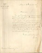 COURRIER CHARLES DE LAVALETTE MINISTRE DE L'INTERIEUR EMPEREUR MAPOLEON III 1865