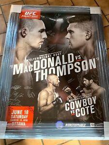 UFC Fight Night 89 Autographed Signed 27x39 Poster Entire Card Covington Cerrone