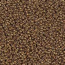 Miyuki Rocailles 15/0 rund 1,5 mm gold, champagner 5g = 1 Röhrchen