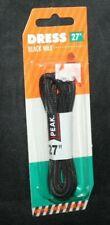 """Peak 27""""  Black Wax Dress Laces"""