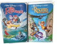 Disney THE RESCUERS & DOWN UNDER Black Diamond VHS Movies The Classics 1399 1142