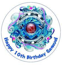 1 x Beyblade Burst 19cm round personalised cake edible image topper