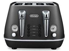 New Delonghi CTI4003.BK Distinta 4 Slice / Slot Electric Black Toaster ~Reheat