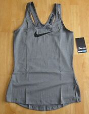 NIKE Womens Pro Tank Top Dri-Fit Gray XS 615724 CrossFit Training Yoga Spandex
