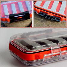 hot Double Side Waterproof Foam Fly Fishing Bait Lure Hook Storage Case Box ZL