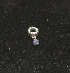 Authentic Pandora  Sapphire Birthstone Dangle charm bead 790166SA 925 ALE
