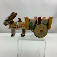 Vintage Donkey Pulling Cart Planter - Cactus Motif - Made in Japan