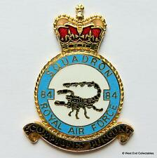 RAF 84 Squadron DANBURY MINT Blank Badge -24ct Gold Detail 1970s Royal Air Force