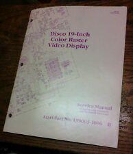 Atari DISCO 19-INCH COLOR RASTER VIDEO DISPLAY Service Manual - used original