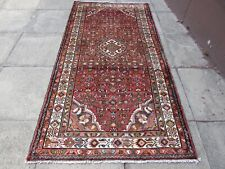 Vintage Traditional Hand Made Oriental Red Pink Wool Rug 228x120cm