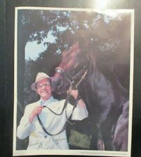 Signed Woody Stephens with 1983 Belmont Stakes Winner Caveat