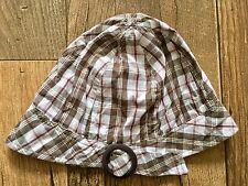 Le ragazze flessibile pieghevole Cotone Scacchi Estate Cappello Da Sole