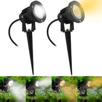 LED Garden Spike Lights 5W Adjustable Outdoor Yard Path Ground Spot Light IP65