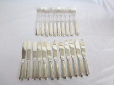 Fish Set Sterling Norway David Andersen 1888-1925 Mark 12 Knifes 10 Forks 1035gr