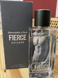 Original A&F Abercrombie & Fitch Fierce Eau de Cologne 100ml Herren Neuw.