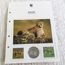THE CHEETAH 1986 WORLD WILDLIFE FUND FOR NATURE .999 FINE SILVER PROOF MEDAL