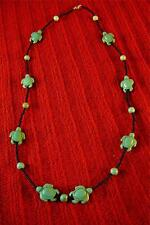 Native American Indian - Turquoise Turtles Beaded Necklace