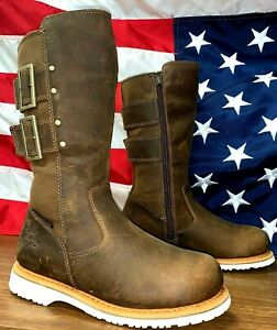 HARLEY-DAVIDSON WOMANS SIZE 6 M WATERPROOF LIMITED ADDITION SIDE ZIPBROWN BOOT