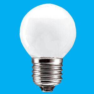4x 60W Opal Round Golf Ball Dimmable ES E27 Edison Screw Light Bulb Lamp